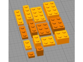 LEGO basic Bricks (1x1-4 and 2x2-4, small and large)