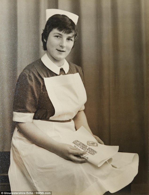 During her first job at Cheltenham General Hospital, in 1956, doctors smoked on wards, cadet nurses were there to clean and there were no male nurses