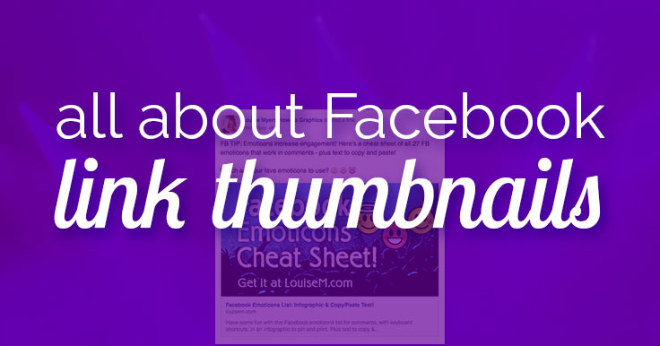 Want a large Facebook Link Thumbnail? You need a BIG blog post image. Learn the minimum and optimal image sizes so you don